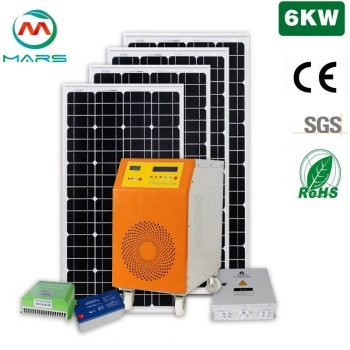 6000W 110V 220VAC Complete Solar Power Kits For Homes