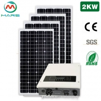 Complete Solar System 2000W On Grid Solar Panel Kits For Home
