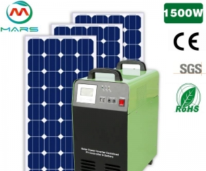 1500W Customized Off Grid Solar Panel Complete Set Household Solar Solutions