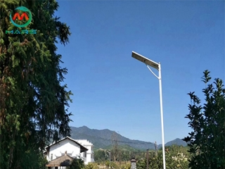 What are the voltages of solar panel outdoor lights?