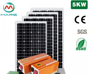 Solar PV Manufacturers 5KW Complete Solar System For RV