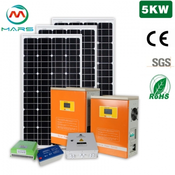 Monocrystalline Solar Panel Manufacturers 5KW Complete Home Solar Power Kits