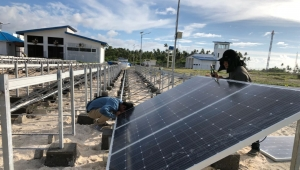 How we finish the airport projects 60KW solar energy panels in Indonesia?