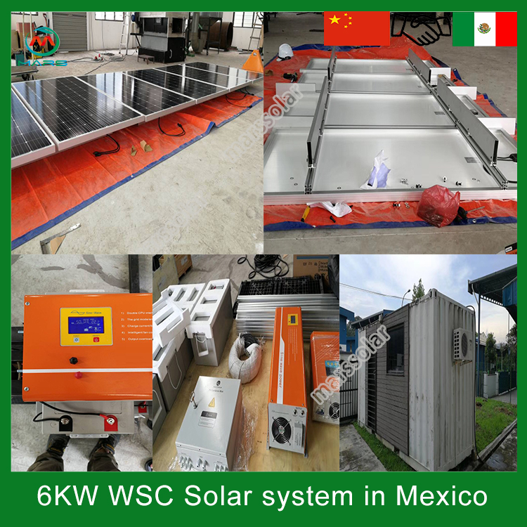 6KW off grid solar panel system in Mexico