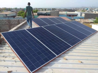 Residential solar panel system off-grid and on grid