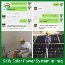 Solar System Manufacturer 5KW Solar Panels For Three Bedrooms House
