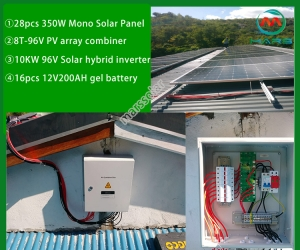 Solar Power System Manufacturers 10KW Off Grid Solar System Batteries