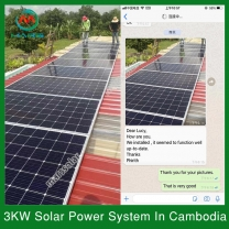 Solar System Manufacturer 3KW On Grid Solar With Battery Backup