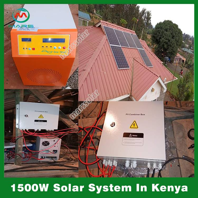 1500W Solar Power Backup System In Kenya