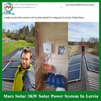 Solar System Manufacturer 3 Kilowatt Off Grid Home Supply