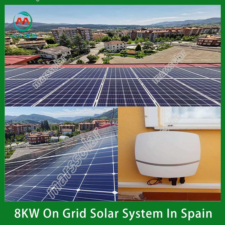 8KW On Grid Solar Power Plant In Spain