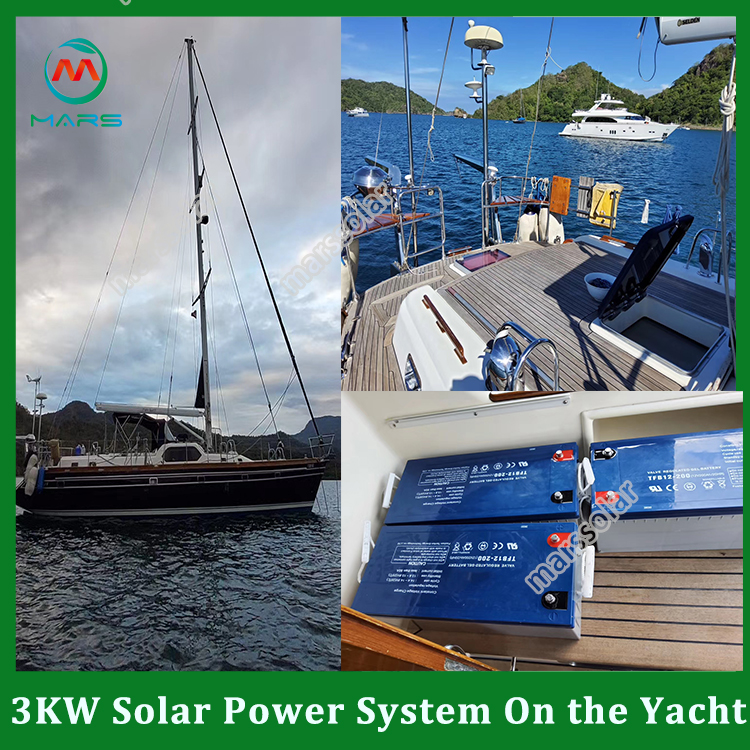 3KW Boat Lift Solar Charging Kit In Russia