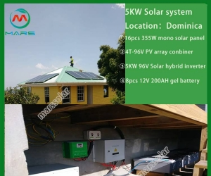 Solar System Manufacturer 5 Kilowatt Power Solar Home