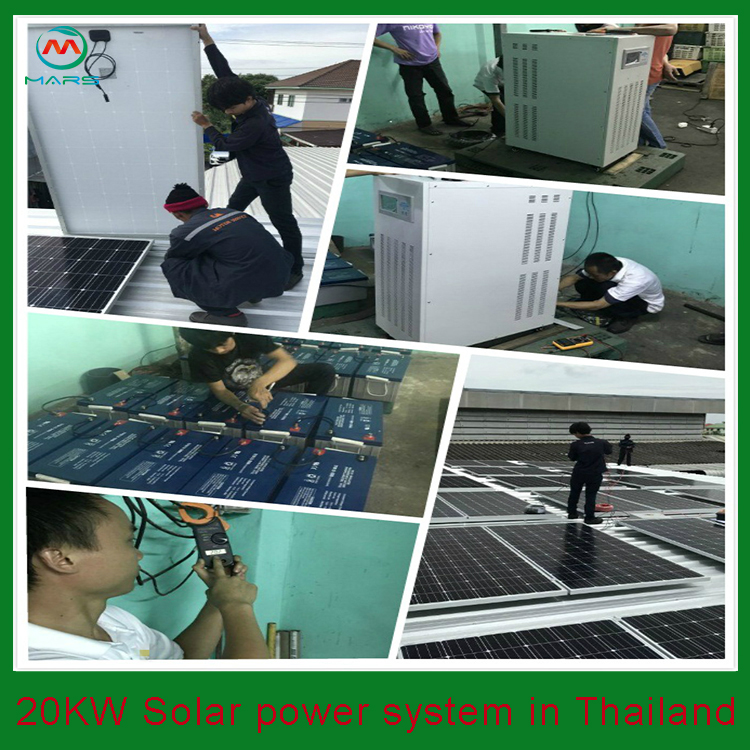20KW Solar Backup System In Thailand