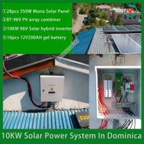 Solar System Manufacturer 10KW Solar Photovoltaic Generation System