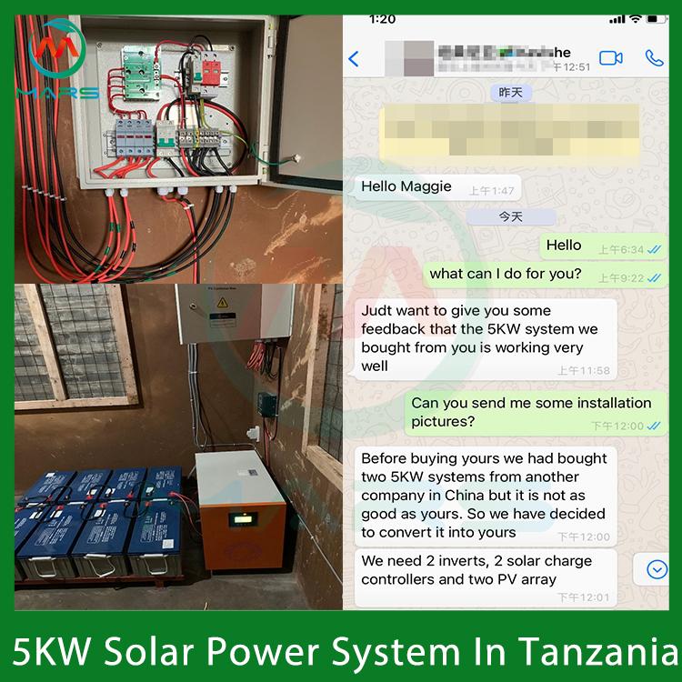 5KW Simple Off Grid Solar System In Tanzania
