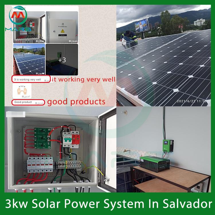 3KW 120V/240V Solar Panel Kit With Battery And Inverter In El Salvador